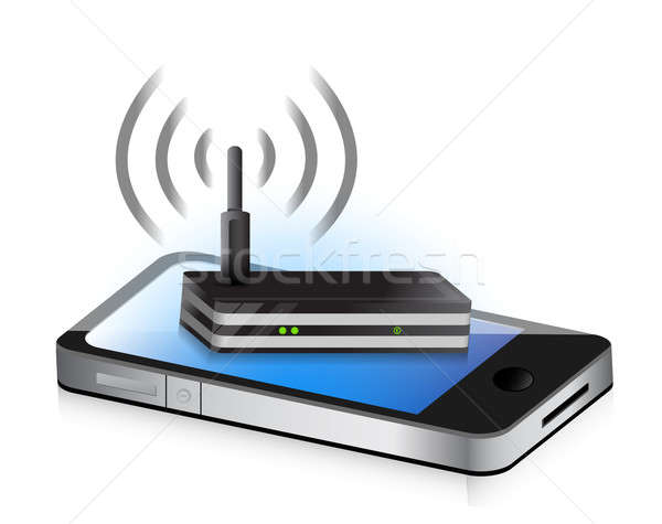 router smartphone illustration design concept graphic icon Stock photo © alexmillos