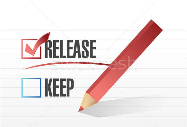 released selected with a check mark. illustration design Stock photo © alexmillos