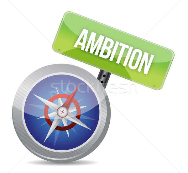 Ambition Glossy Compass  Stock photo © alexmillos