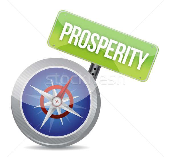 Prosperity Glossy Compass  Stock photo © alexmillos