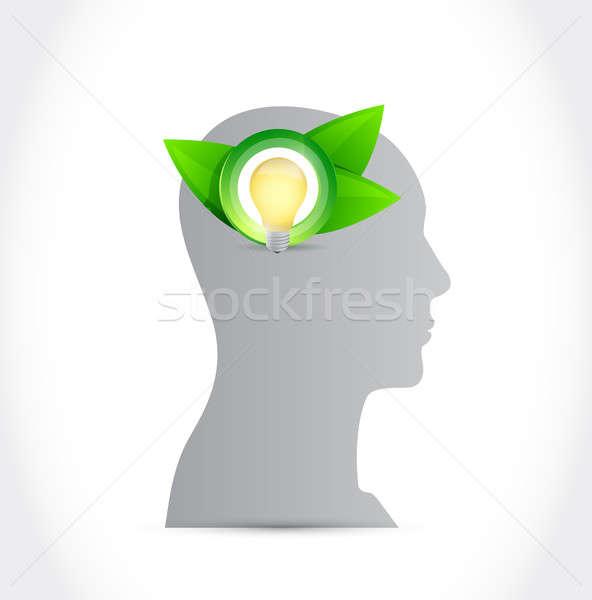 think green mind concept illustration design Stock photo © alexmillos