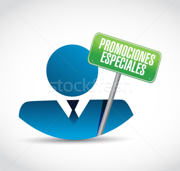 special promotions in Spanish business avatar Stock photo © alexmillos