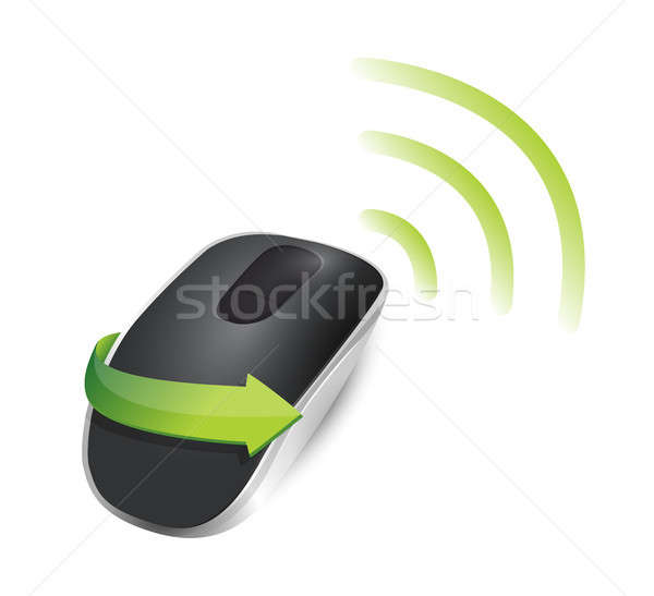 wifi Wireless computer mouse Stock photo © alexmillos