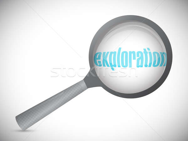exploration magnify text illustration Stock photo © alexmillos