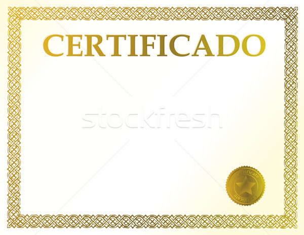 Spanish blank certificate. Ready to be filled with your individu Stock photo © alexmillos