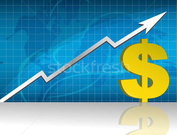 доллара валюта торговый графа бизнеса синий Сток-фото © alexmillos