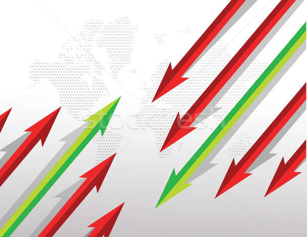 Arrows going in opposite directions. illustration design Stock photo © alexmillos