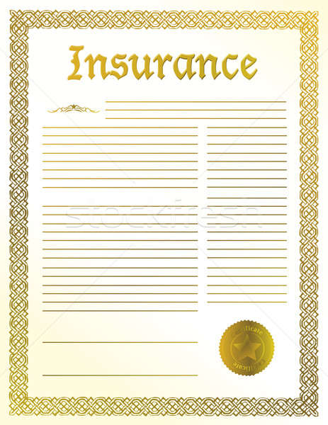Insurance legal document illustration design Stock photo © alexmillos