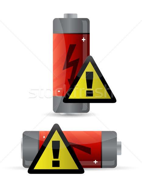 low battery icon illustration design Stock photo © alexmillos
