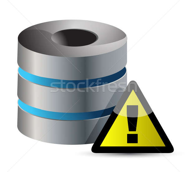 Secure Data Base illustration design over a white background Stock photo © alexmillos