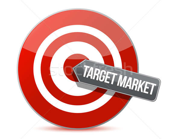 target market concept illustration design over a white backgroun Stock photo © alexmillos