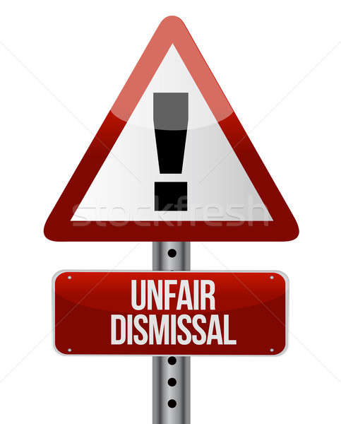 Road traffic sign with an unfair dismissal cost  Stock photo © alexmillos