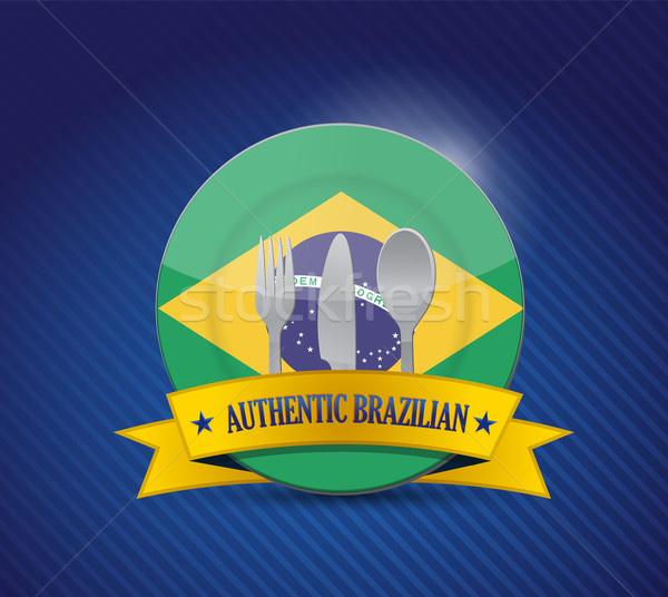 Traditional brazilian restaurant , menu illustration design over Stock photo © alexmillos