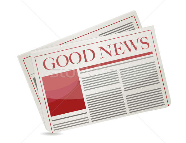 Una buena noticia periódico ilustración diseno blanco papel Foto stock © alexmillos