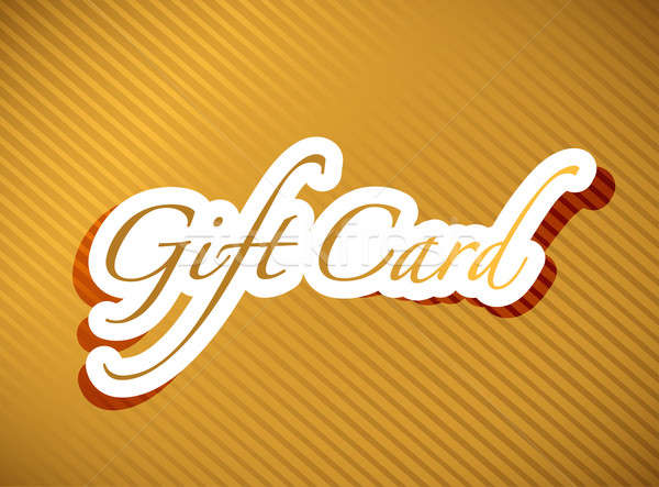 Gold Geschenkkarte Illustration Design Business Rahmen Stock foto © alexmillos