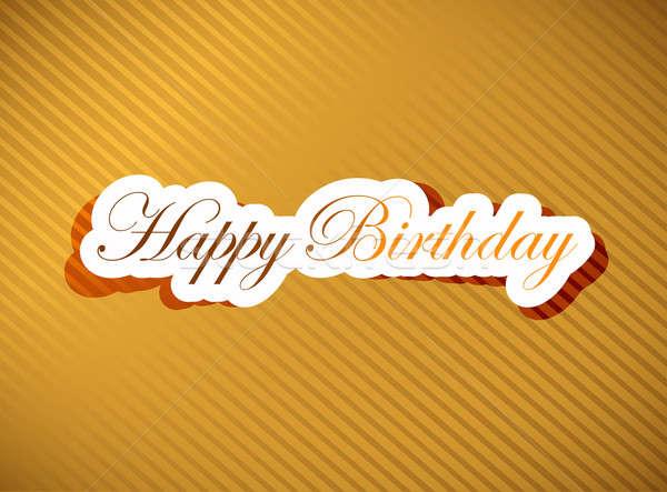 Happy birthday card   Stock photo © alexmillos