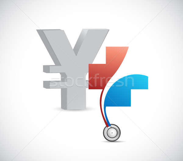 Yen financial health concept. currency Stock photo © alexmillos