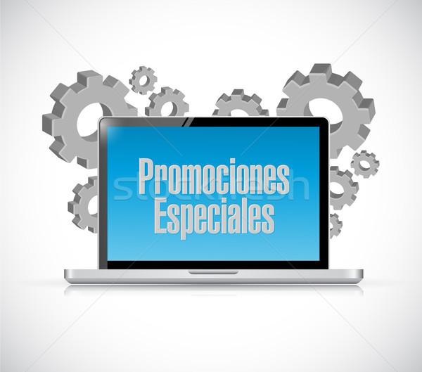 Speciale spagnolo computer segno illustrazione design Foto d'archivio © alexmillos