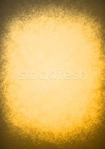Oranje oud papier textuur illustratie ontwerp grafische Stockfoto © alexmillos
