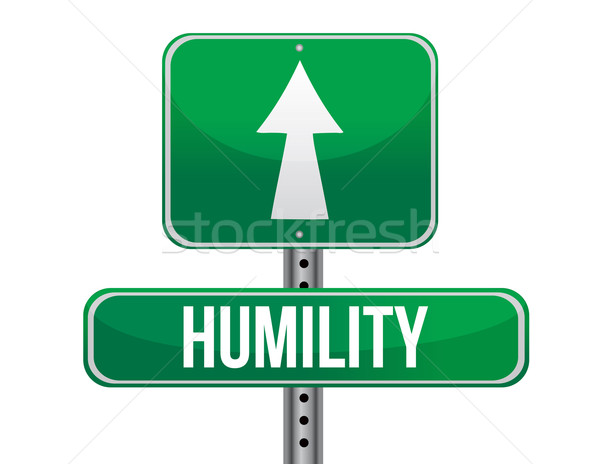 humility road sign illustration design over a white background Stock photo © alexmillos
