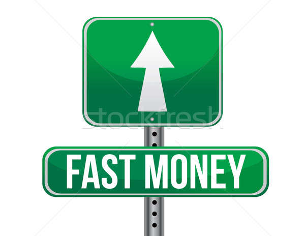 fast easy money illustration design over a white background Stock photo © alexmillos