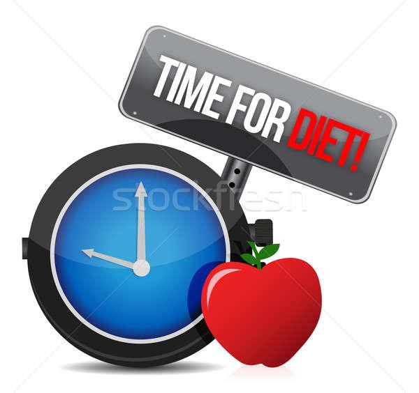 ストックフォト: 時間 · ダイエット · 実例 · デザイン · 白 · 規模