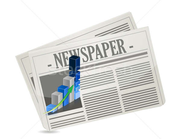 business newspaper graph illustration design over a white backgr Stock photo © alexmillos