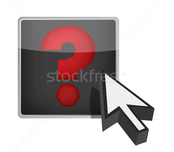 Ponto de interrogação cursor ilustração projeto branco pergunta Foto stock © alexmillos