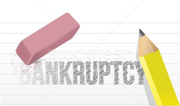 Quiebra ilustración diseno oficina dinero papel Foto stock © alexmillos