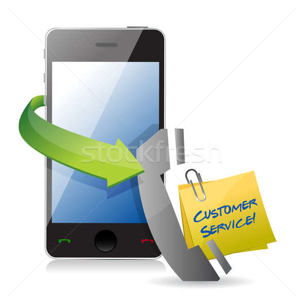Phone customer support concept  Stock photo © alexmillos