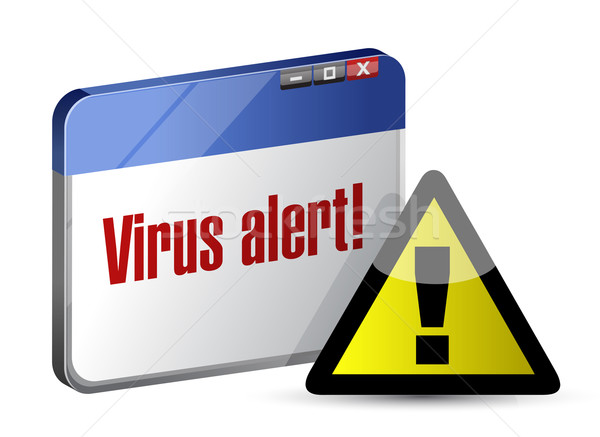 Browser internet virus alarm illustratie ontwerp Stockfoto © alexmillos