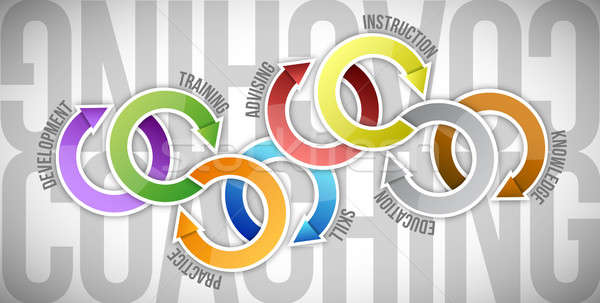 Coaching concept diagram Stock photo © alexmillos