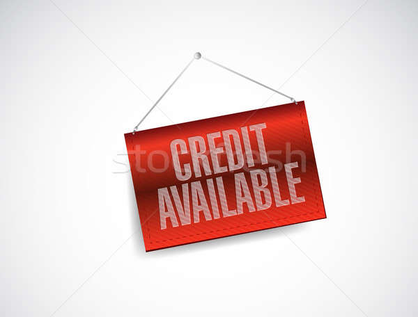 Credit available hanging banner sign illustration Stock photo © alexmillos
