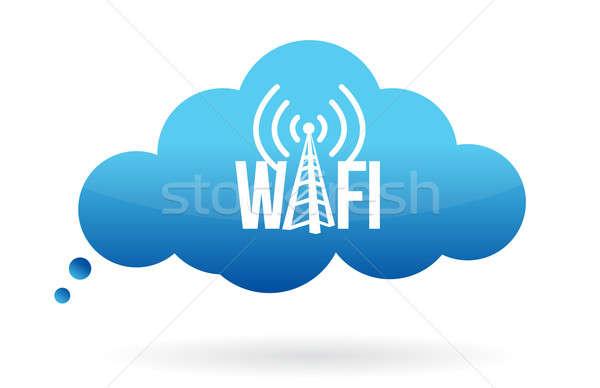 Cloud computing wifi  Stock photo © alexmillos