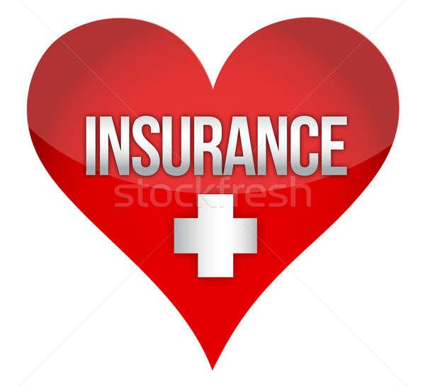 Stock photo: Heart insurence illustration design