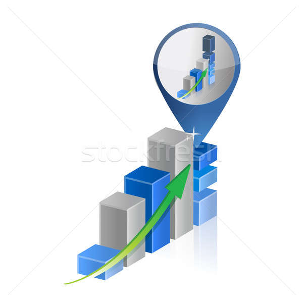 success business graph chart location pointer Stock photo © alexmillos
