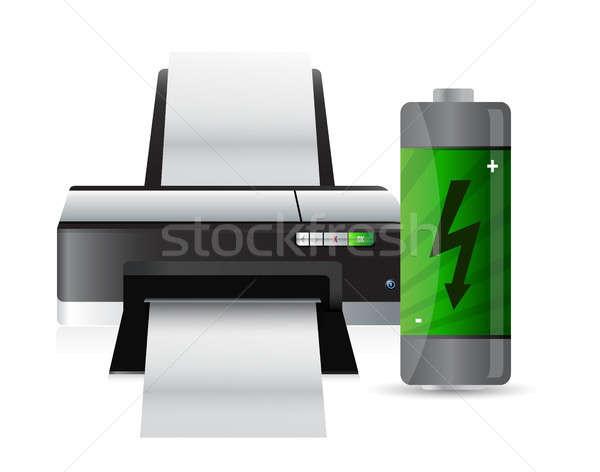 printer and battery Stock photo © alexmillos