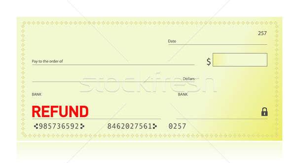 Viszzafizetés csekk illusztráció terv fehér üzlet Stock fotó © alexmillos