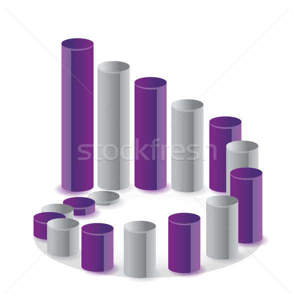 Foto stock: único · gráfico · de · negócio · círculo · ilustração · dinheiro · financiar