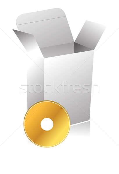 3D окна компакт-дисков иллюстрация дизайна изолированный Сток-фото © alexmillos