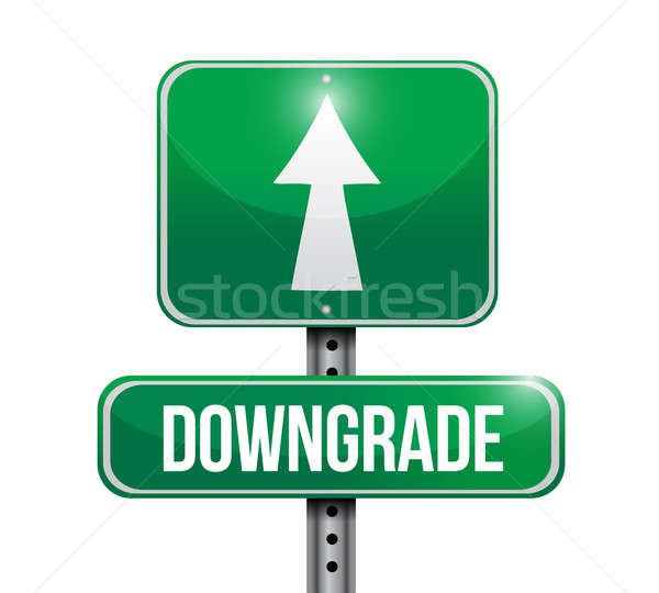 downgrade road sign illustration design over white Stock photo © alexmillos