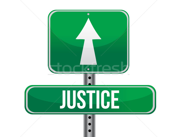 justice road sign illustration design over a white background Stock photo © alexmillos