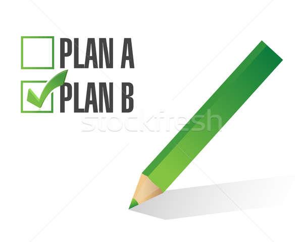 Plan b seçilmiş örnek dizayn beyaz iş Stok fotoğraf © alexmillos
