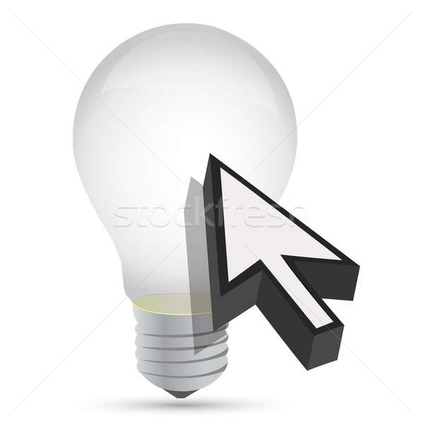 illustration of idea bulb design over a white background Stock photo © alexmillos