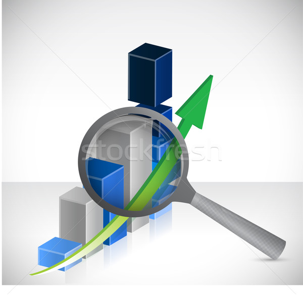 business results under review concept illustration design over a Stock photo © alexmillos