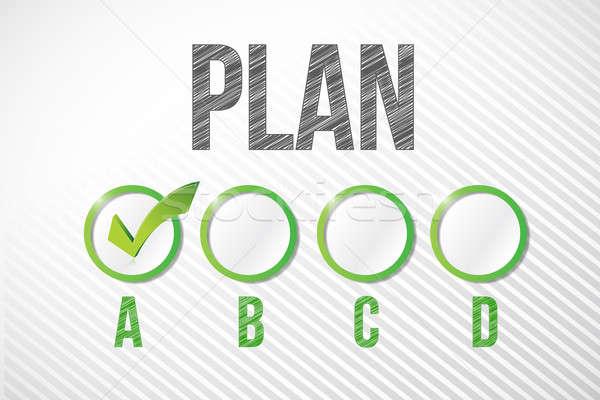 Plan örnek dizayn beyaz kâğıt Stok fotoğraf © alexmillos