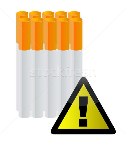 Cigarettes behind a warning sign  Stock photo © alexmillos