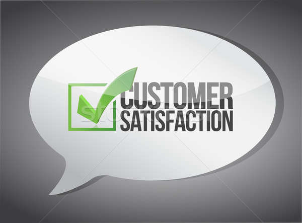 Customer support message communication concept Stock photo © alexmillos