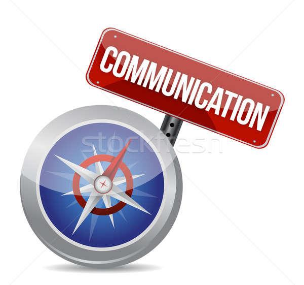 ストックフォト: 通信 · 赤 · 言葉 · コンパス · 電話 · インターネット