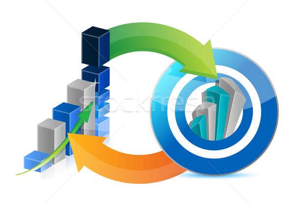 üzleti grafikon sikeres cél üzlet zöld piros Stock fotó © alexmillos